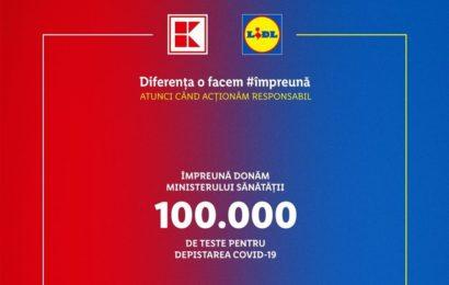 Lidl si Kaufland doneaza 100.000 bucati recoltoare pentru teste ce depisteaza Covid-19