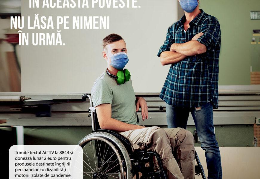 Fundația Motivation ofera suport persoanelor cu dizabilități motorii izolate de pandemie